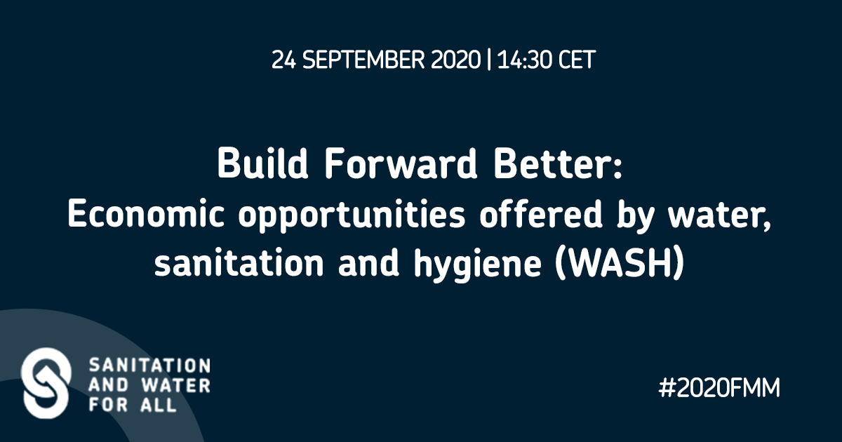Build Forward Better - economic opportunities offered by WASH