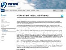 KoroSan: On-site Household Sanitation Guidelines for Fiji