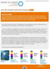 Screenshot of WASH Alliance International's Leave No One Behind website