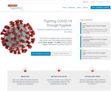 Screenshot of the COVID-19 Hygiene Hub website