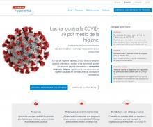Captura de pantalla del Hub de Higiene para la COVID-19