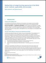 IRC-DWA Budget Note PDF Covershot