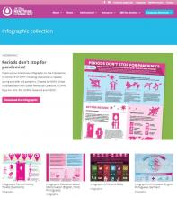 Screenshot of MH Day infographics collection website