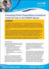 Covershot of the UNICEF Public Expenditures Tools Guidance PDF