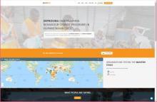 Screenshot of WASH'em Website main page