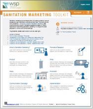 Screenshot of new Sanitation Marketing Toolkit at WSP