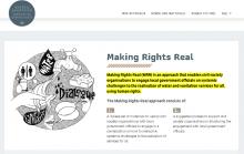 Making Rights Real website screenshot