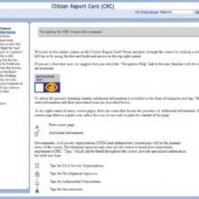 Citizen Report Card Learning Toolkit
