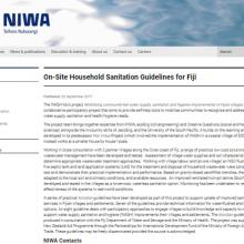 KoroSan: On-site Household Sanitation Guidelines for Fiji