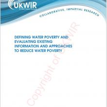 Covershot of UKWIR's PDF on alleviating water poverty.