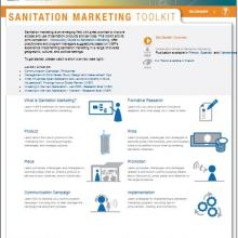 Screenshot of new Sanitation Marketing Toolkit at WSP