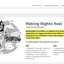 Making Rights Real website screenshot